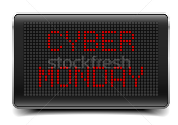 LED Board Cyber Monday Stock photo © unkreatives