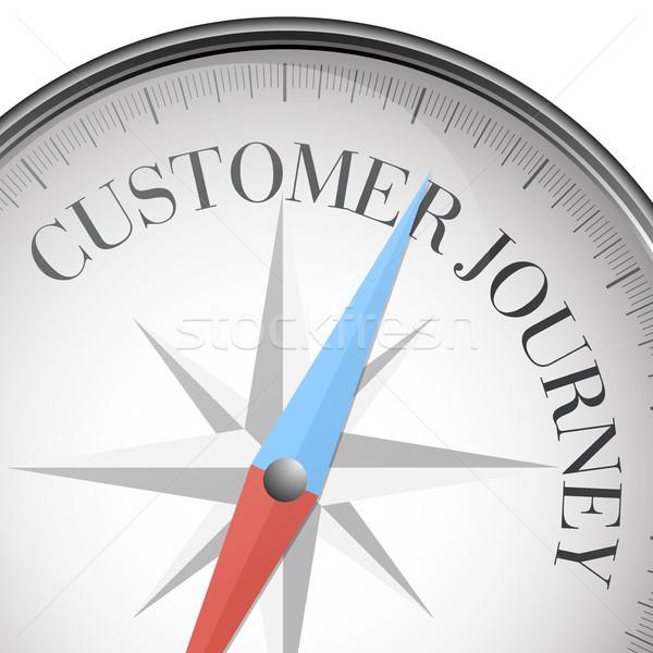 compass Customer Journey Stock photo © unkreatives