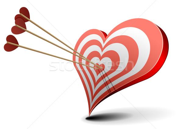 Valentin coeur cible saint valentin Photo stock © unkreatives