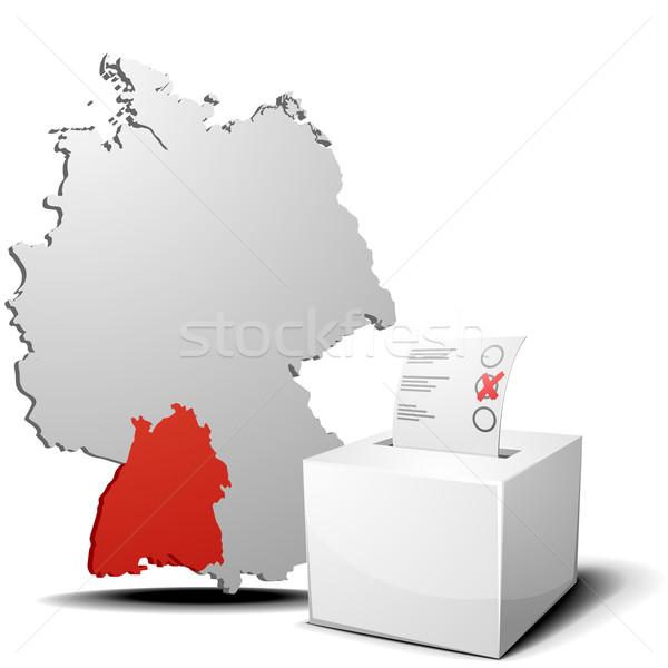vote germany Baden-Wuerttemberg Stock photo © unkreatives