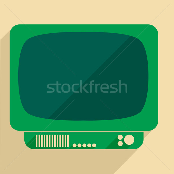 retro tv Stock photo © unkreatives