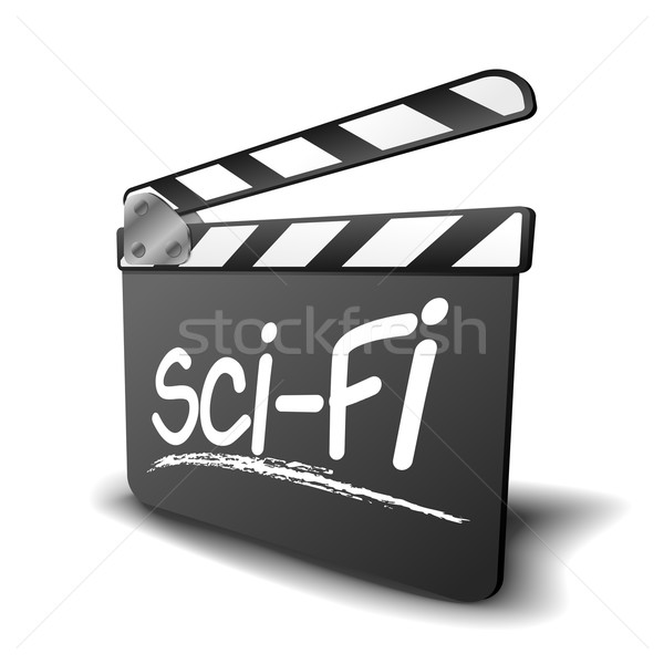 Tábla scifi részletes illusztráció szimbólum film Stock fotó © unkreatives