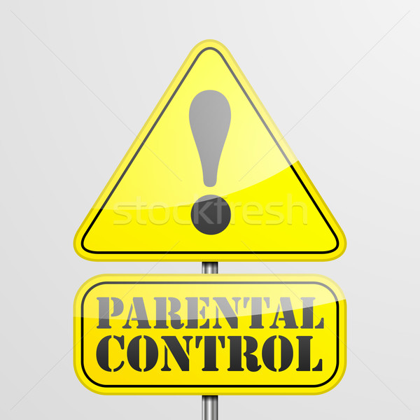 RoadSign Parental Control Stock photo © unkreatives