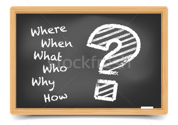 W-Questions Stock photo © unkreatives