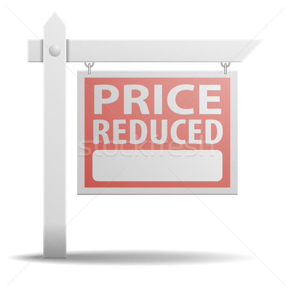 Sign Price Reduced Stock photo © unkreatives