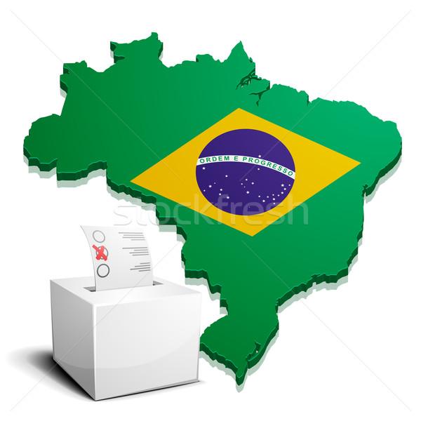 ballotbox Brazil Stock photo © unkreatives