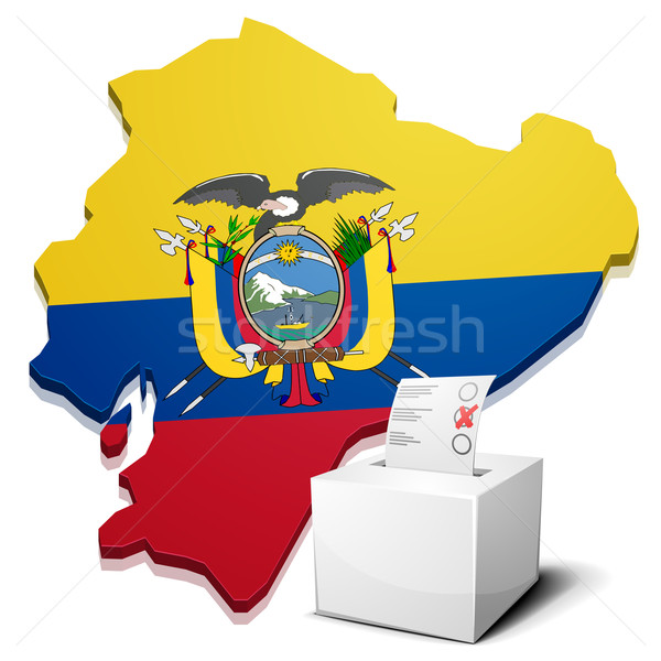 ballotbox Ecuador Stock photo © unkreatives