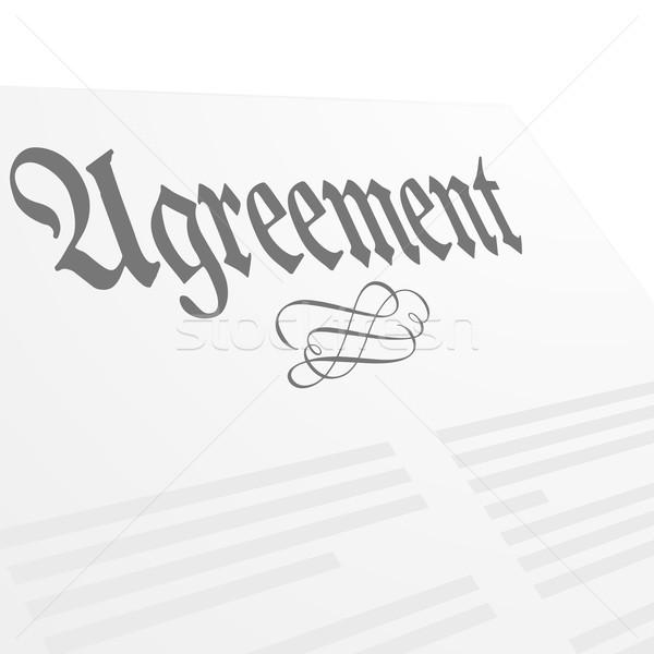 Accord détaillée illustration lettre eps10 vecteur Photo stock © unkreatives
