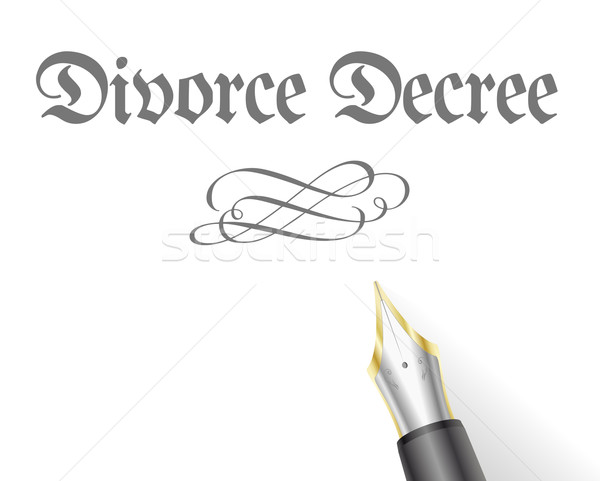 Divorce Decree  Stock photo © unkreatives