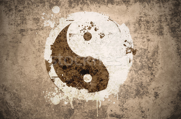 grunge yinyang symbol Stock photo © unkreatives