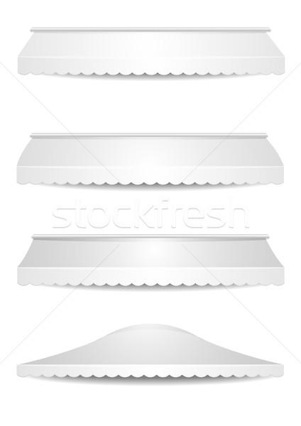 Set bianco dettagliato illustrazione eps10 vettore Foto d'archivio © unkreatives