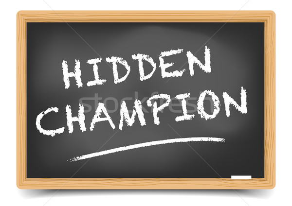 Blackboard Hidden Champion Stock photo © unkreatives