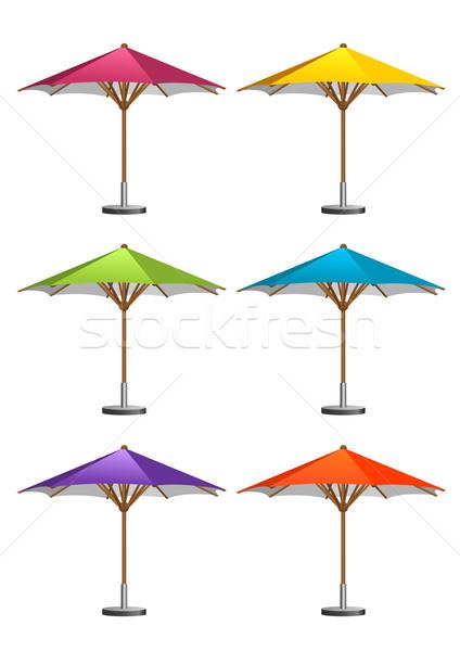 Pazar altı renkli yeşil mavi Stok fotoğraf © unweit
