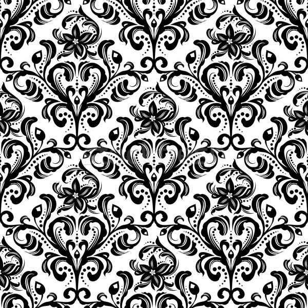 Model siyah beyaz duvar kağıdı Stok fotoğraf © unweit