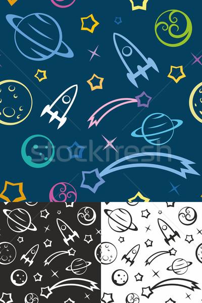 Uzay kolay düzenlenebilir gezegenler Yıldız Stok fotoğraf © unweit