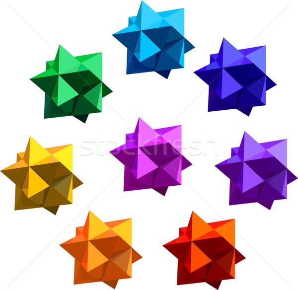 Cijfer acht kleur geen gradiënten groep Stockfoto © unweit