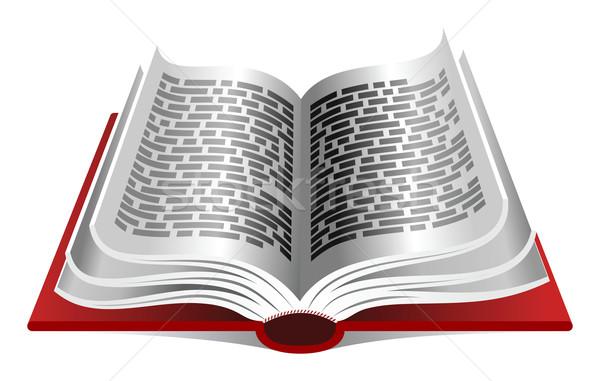 Kırmızı kitap beyaz kâğıt okuma Stok fotoğraf © unweit