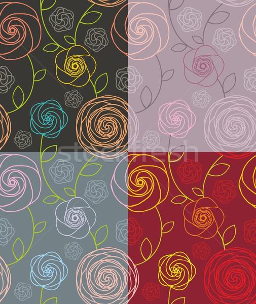 Model güller dört Stok fotoğraf © unweit
