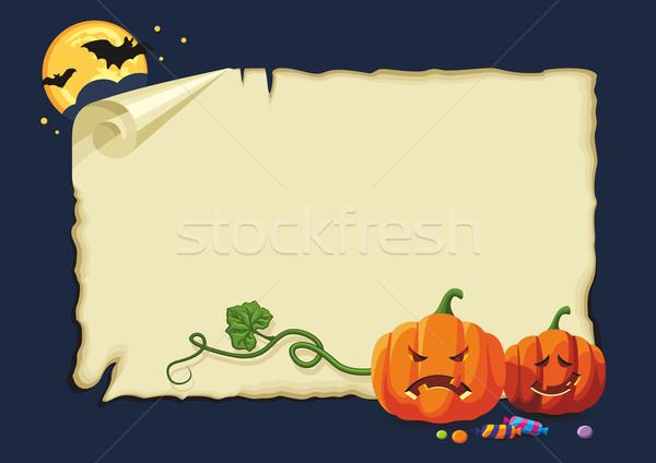 Halloween karty nie gradienty pusty Zdjęcia stock © unweit