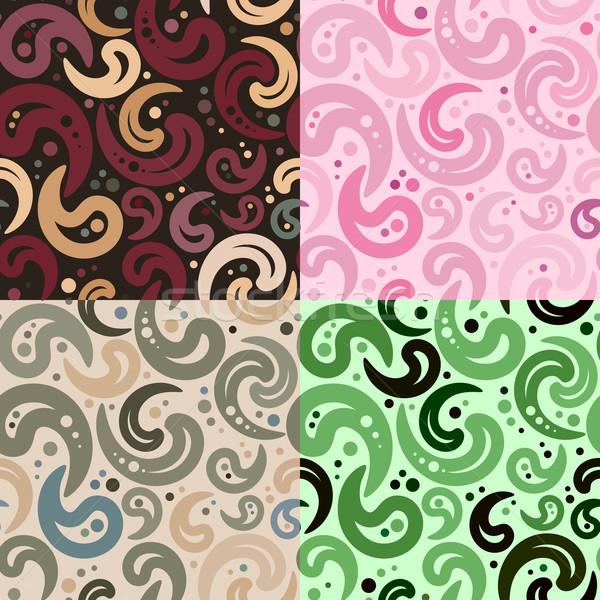 Soyut dört renk kumaş arka Stok fotoğraf © unweit