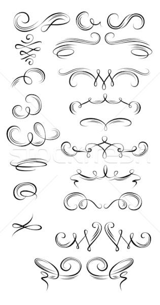 Ayarlamak sanat spiral dekorasyon ilerleyin Stok fotoğraf © unweit