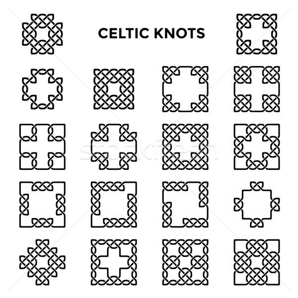 Placu celtic ramki streszczenie projektu krzyż Zdjęcia stock © unweit