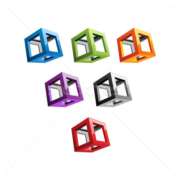 Varicolored Cubes Stock photo © unweit