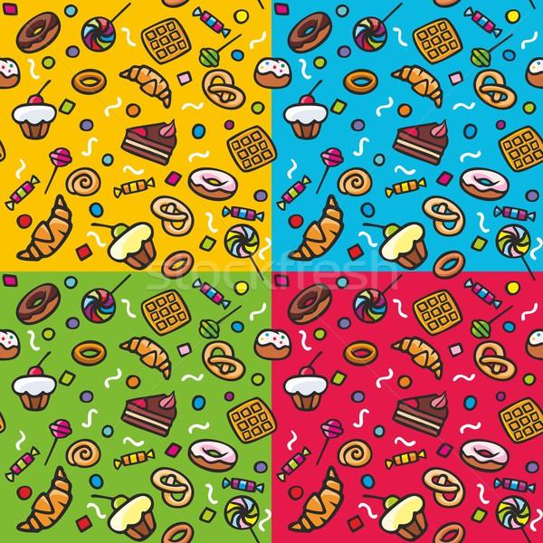 Słodycze wzór cztery inny środowisk Zdjęcia stock © unweit