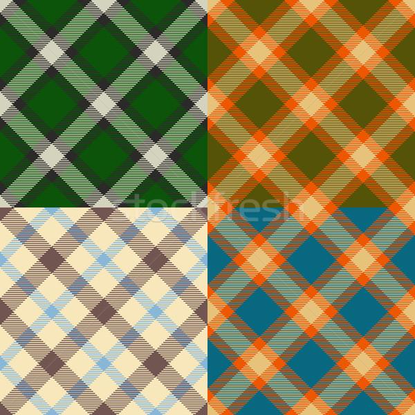 Kleur patronen ingesteld vier papier Stockfoto © unweit