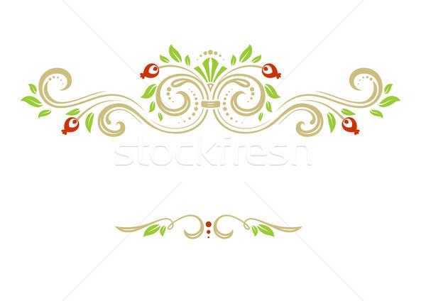 Süs dekoratif çerçeve vektör Stok fotoğraf © unweit