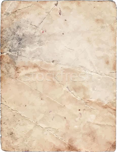 Eski kağıt vektör doku grunge parça kâğıt Stok fotoğraf © unweit