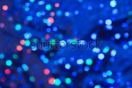Bulanık mavi soyut arka yatay parlak Stok fotoğraf © unweit