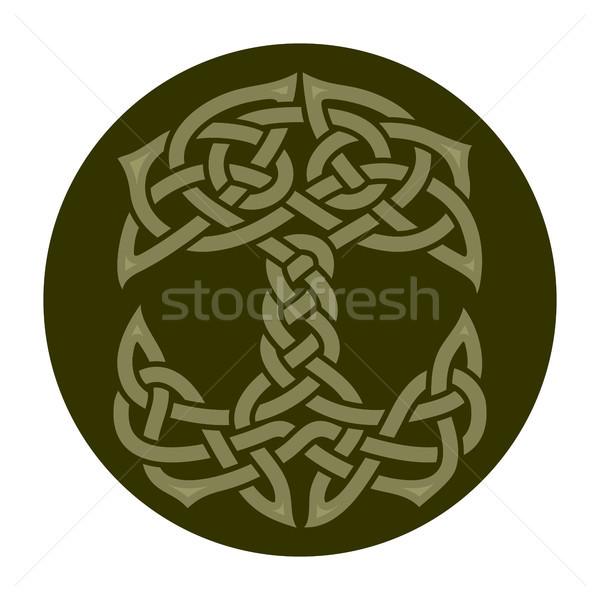 Celtic drzewo życia ilustracja charakter Zdjęcia stock © unweit
