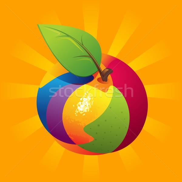 Egzotik meyve karışımı meyve turuncu doğa yaprak Stok fotoğraf © unweit