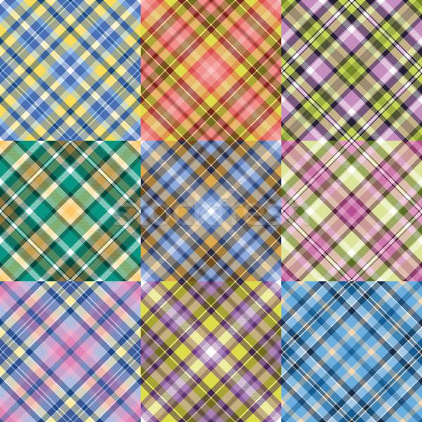 Kolor wzorców zestaw fantasy cztery Zdjęcia stock © unweit