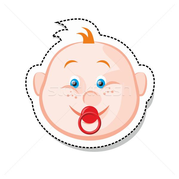 Baby gezicht Rood hoofd persoon glimlachend Stockfoto © unweit