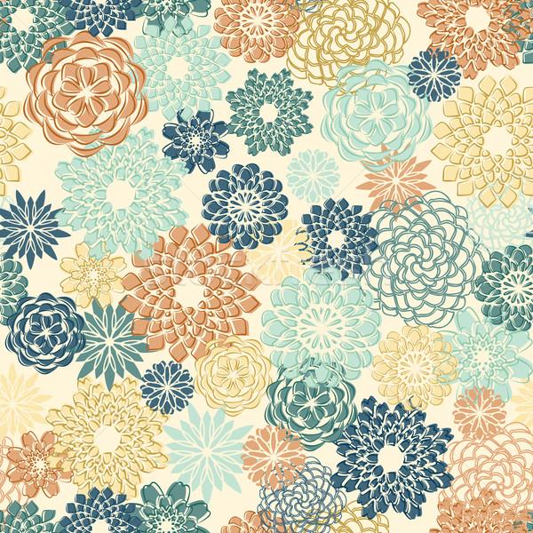 Soyut Retro renkler dizayn Stok fotoğraf © unweit