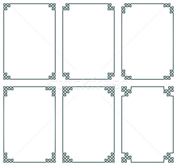 ケルト フレーム コレクション 6 抽象的な パターン ストックフォト © unweit