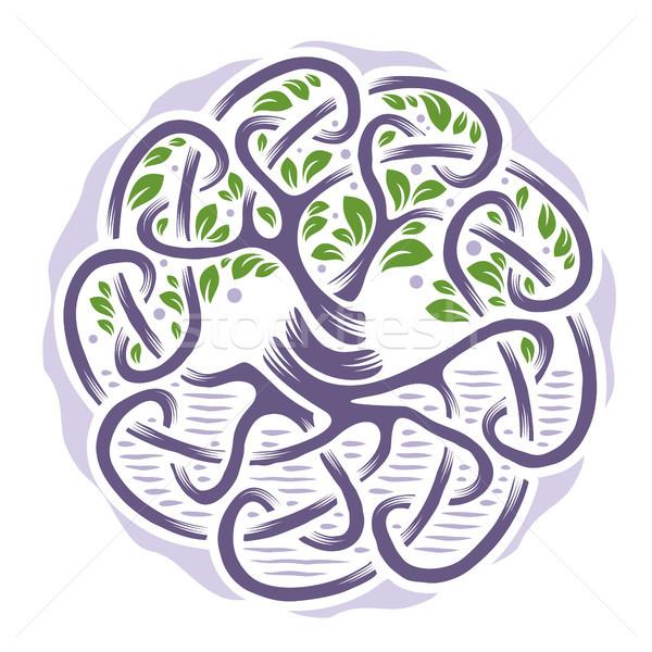 Celtic albero vita illustrazione pallido colori Foto d'archivio © unweit