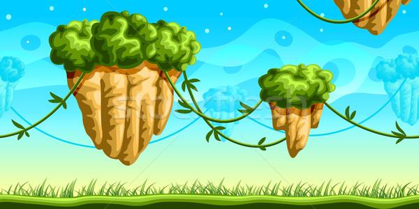Futuristische spel fantasie naadloos mobiele Stockfoto © unweit