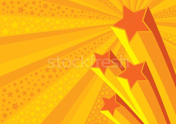Yıldız vektör düzenlenebilir parti sanat Retro Stok fotoğraf © UPimages