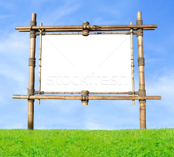 Bamboo Billboard Stock photo © UPimages