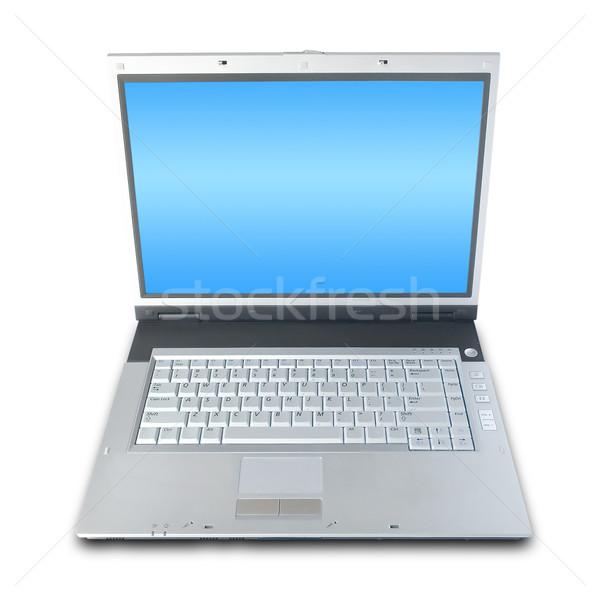 Laptop Over White Stock photo © UPimages