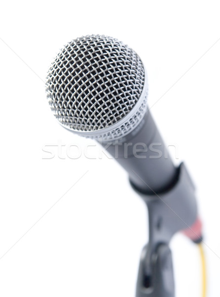 Stockfoto: Professionele · microfoon · geïsoleerd · witte · televisie · concert