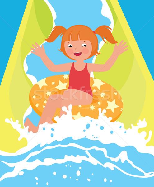 Dzieci dziewczyna gry park wodny lata czas Zdjęcia stock © UrchenkoJulia