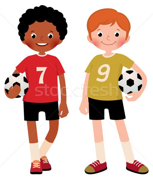 在庫 2 子供 男の子 サッカー プレーヤー ストックフォト © UrchenkoJulia