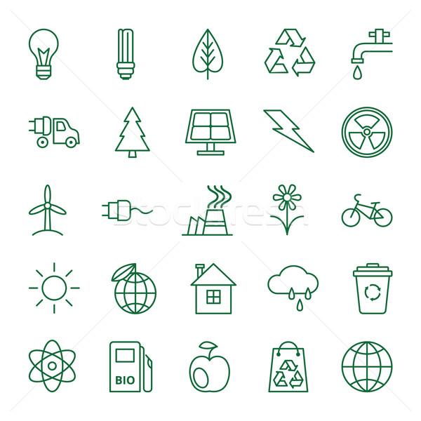 Photo stock: Icônes · écologie · environnement · grand · vecteur