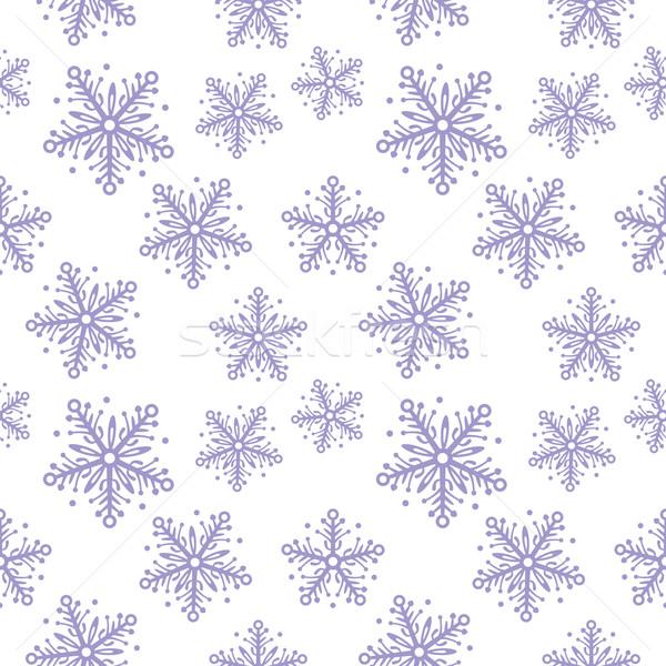 Streszczenie płatki śniegu czas bezszwowy zimą Zdjęcia stock © UrchenkoJulia