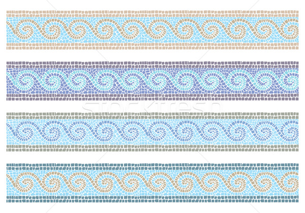 Vintage mosaic seamless border Stock photo © UrchenkoJulia