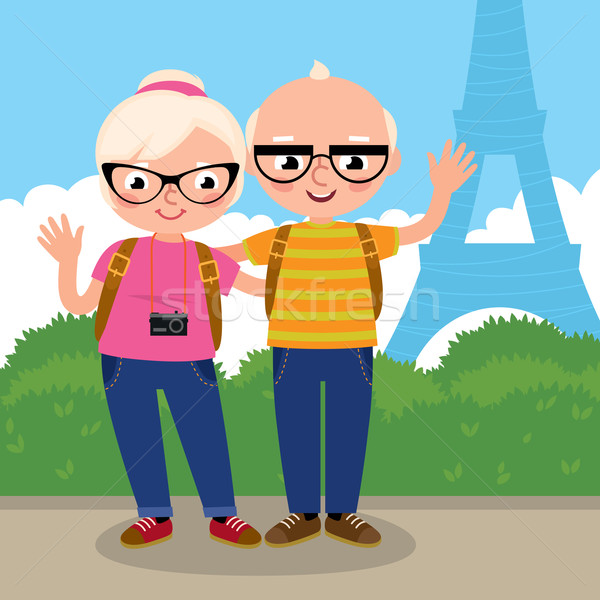 Mature couple travels to Paris Stock photo © UrchenkoJulia